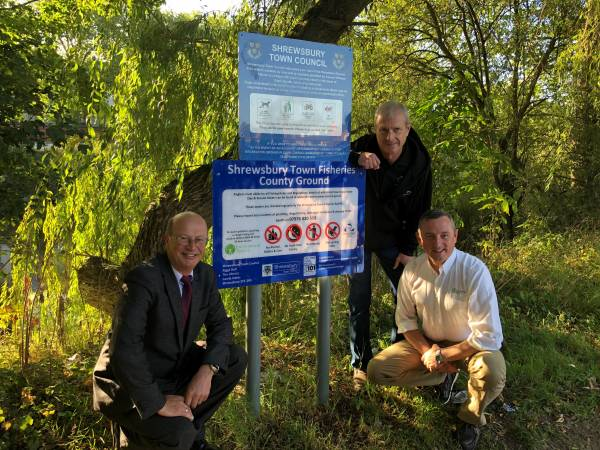 Shrewsbury Town Fisheries Signs