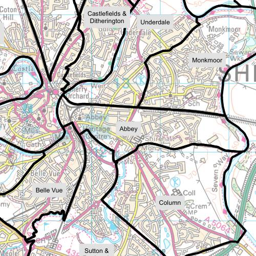 Abbey Ward Map