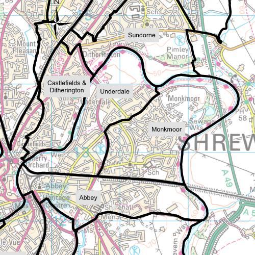 Monkmoor Ward Map