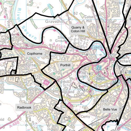 Porthill Ward Map