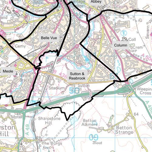 Radbrook Ward Map