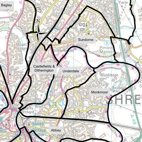 Underdale Ward Map
